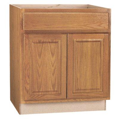 Continental Cabinets Kitchen Base Cabinet Assembled Medium Oak Finish Double Door 30 X 34 5 X 24 In Raa Hardware Truevalue Store